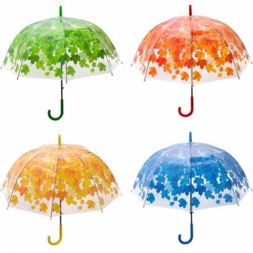 Зонтик - трость, прозрачный листок