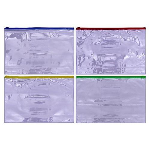 Папка бегунок А4 (31,5*23,5см) 8мкр, с кармашком для визитки 88*58мм