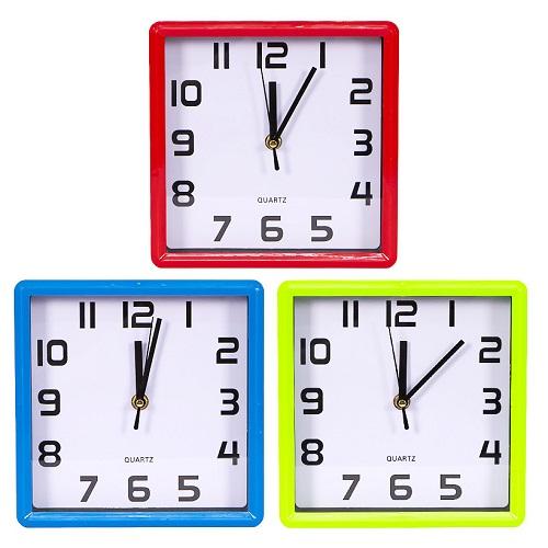 Настенные часы «Квадрат черный/белый» 19,5*19,5*4см