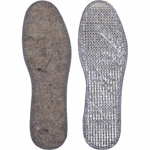 Стельки для обуви войлочные с фольгой р.38-48 (1 пара)