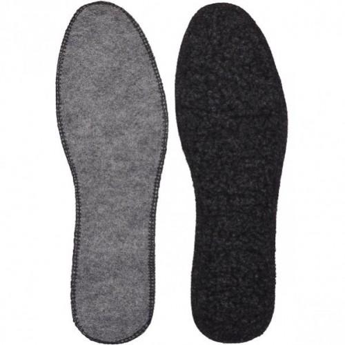 Стельки для обуви войлочные с мехом прошитые р.38-48 (1 пара)
