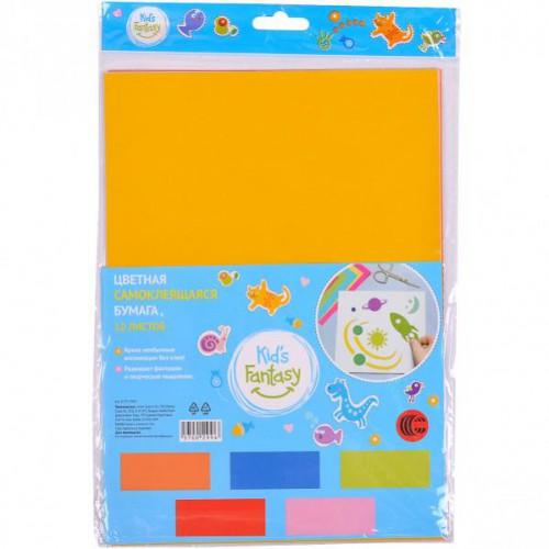 Набор клеевой цветной бумаги А4, 10л, 5цв