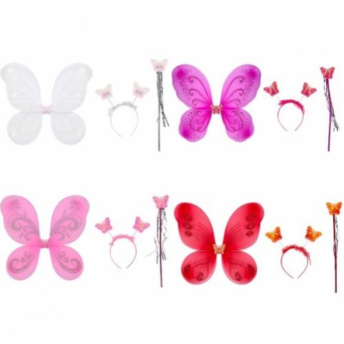 """Набор карнавальный """"Бабочка"""" 3 предмета, однотонный, цветной"""