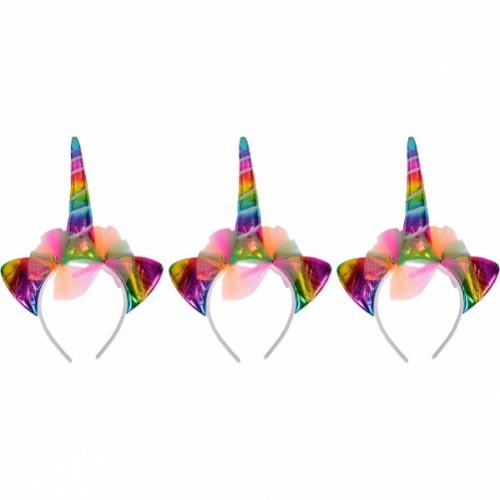 Обруч Единорог-цветной голограмма