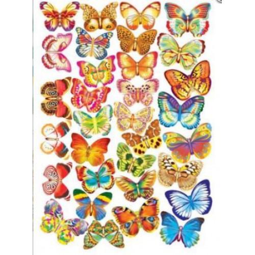 """Набор """"Бабочки"""" (32шт) на скотче"""