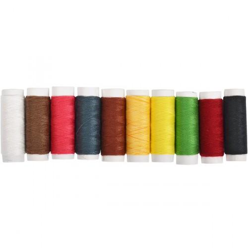 Набор цветных ниток (10шт)