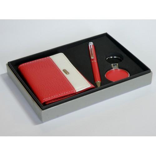 Набор подарочный женский: кошелек+шариковая ручка+брелок