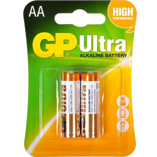 Батарейки GP 15AUHM-2UE2 щелочные,  LR6 U.AA