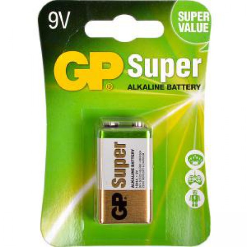 Батарейка GP 1604A-5UE1 щелочная 6LF22,6LR61 (крона)