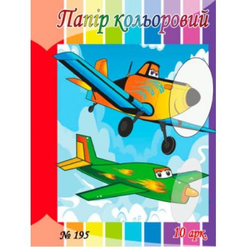 Набор цветной бумаги А4 10л , 120г/м2
