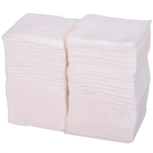 Салфетки бумажные 24*24см, белые (300шт)