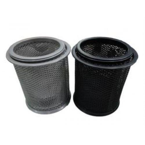 """Набор 3шт: подставка-стакан металлический """"Сетка"""", круглый серебро/черный"""