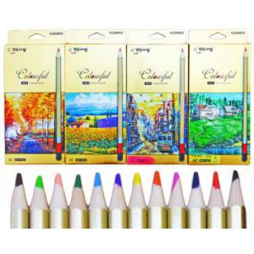 """Цветные карандаши 12цв """"ЗОЛОТЫЕ ПЕЙЗАЖИ"""""""