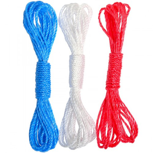 Верёвка полипропиленовая бельевая, цветная 7м