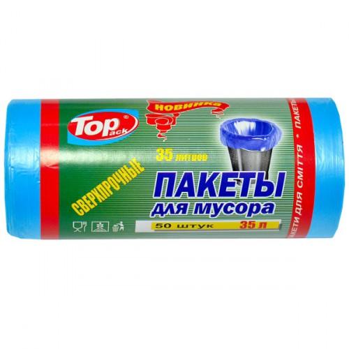Пакет для мусора HD 50×60 /35 л 30 шт. Top Pack голубой