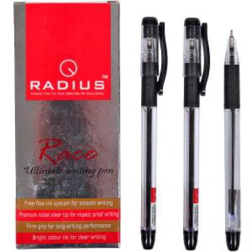 """Ручка шариковая """"RACE"""" на масляной основе 0,7мм, ЧЕРНАЯ """"RADIUS"""""""