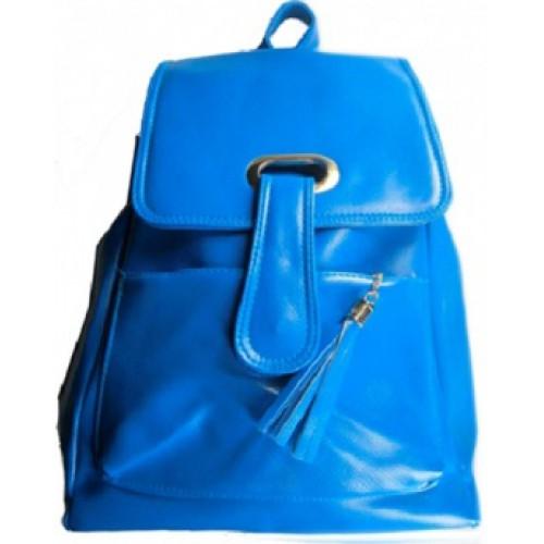 """Рюкзак """"Цветной с карманом и кисточкой"""" 35*26*9см, кожзам"""