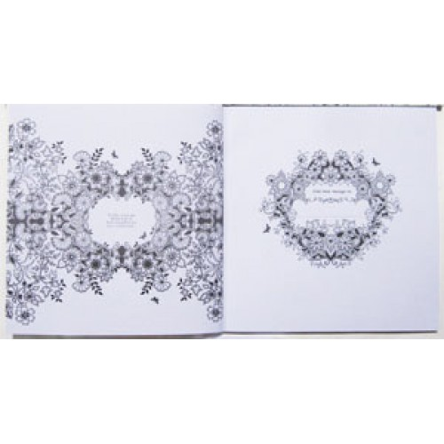 """Книжка-раскраска 25*25см """"Волшебный сад""""(антистресс) 96 карт,120г/м3"""