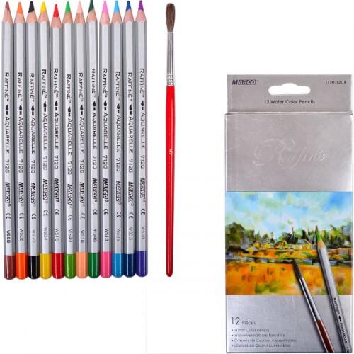 Набор цветных акварел. карандашей 12цв серия Raffine MARCO