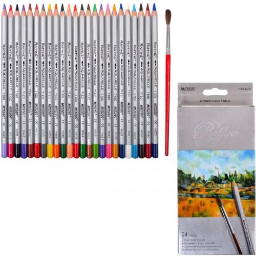 Набор цветных акварел. карандашей 24цв серия Raffine MARCO