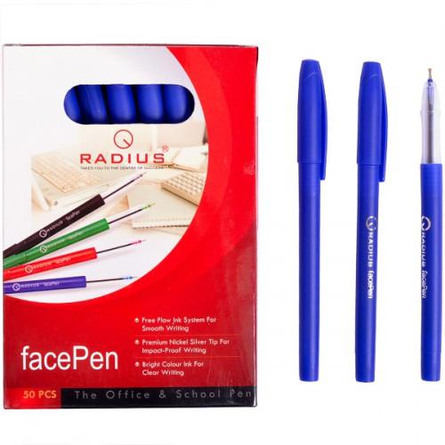 """Ручка шариковая """"facePen"""" на масляной основе 0.7мм, СИНЯЯ """"RADIUS"""""""