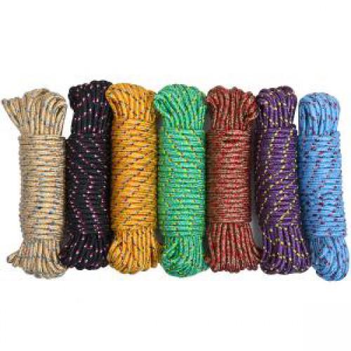 Веревка цветная 10м, ⌀6мм