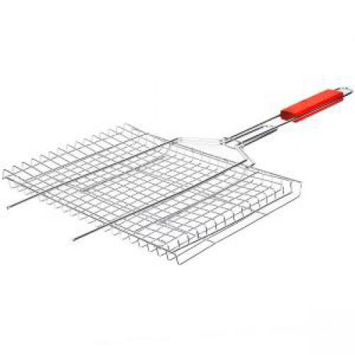 Решетка для мангала 45*25*2см, длина ручки - 35см