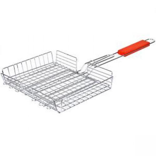 Решетка для мангала глубокая 40*29*5см, длина ручки - 34см