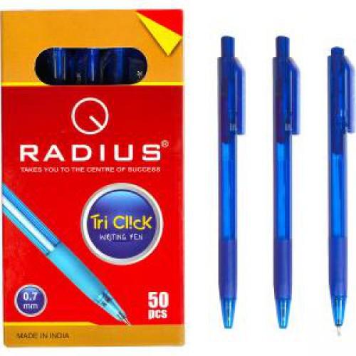 """Ручка шариковая автомат «Tri Click» на масляной основе 0.7мм, СИНЯЯ """"RADIUS"""""""