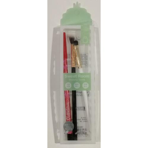 Набор для макияжа: кисти 2шт + карандаш для глаз