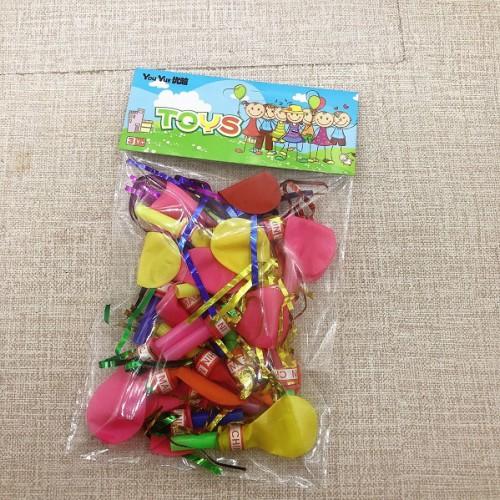 Шарики надувные цветные со свистком (20шт)