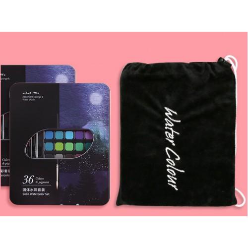 Набор подарочный: акварель 36цв+ручка-кисть д/акварели+точилка+кисточка+простой карандаш