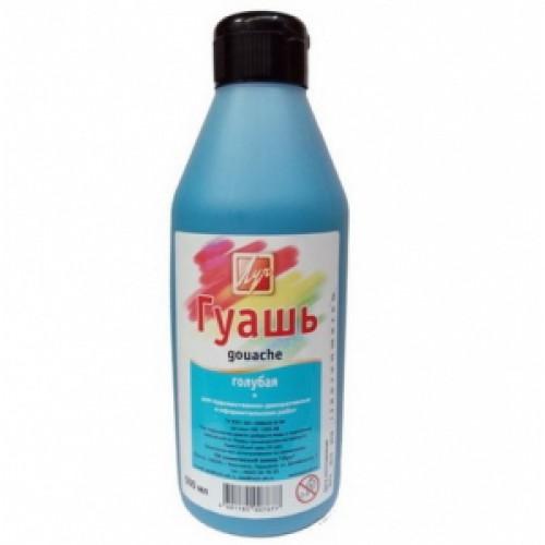 """Гуашь """"Голубая"""" 500мл в бутылке Луч"""