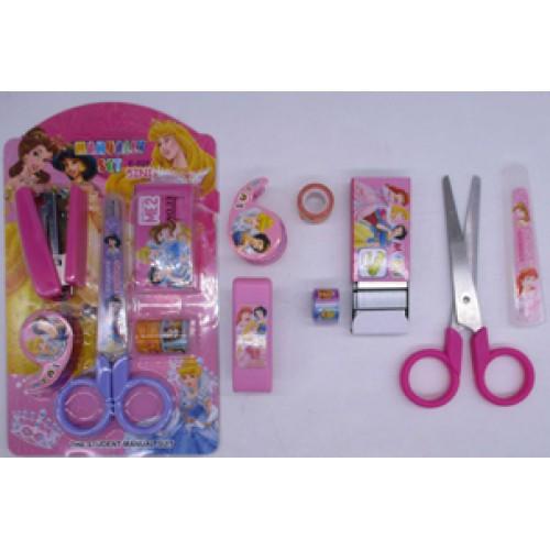 """Набор """"Мультяшки для девочек"""": степлер, скобы, ножницы, скотч цветной, диспенсер"""
