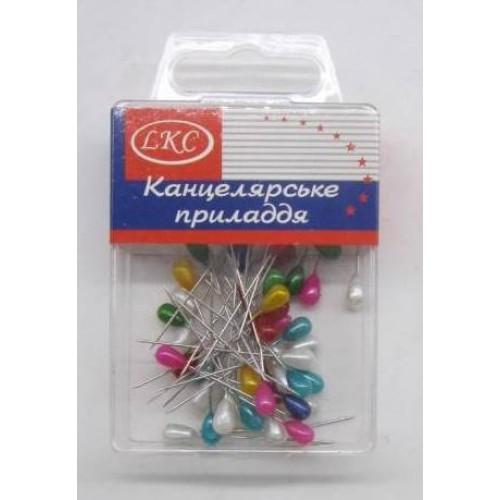Булавки цветные (50шт)