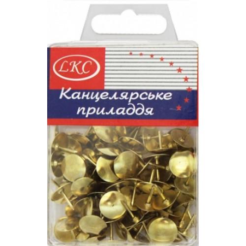 Кнопка золотая (100шт)