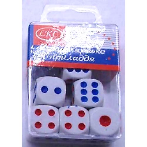 Кубики игральные 17,5*17,5мм (8шт)