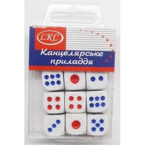 Кубики игральные 14,5*14,5мм (12шт)