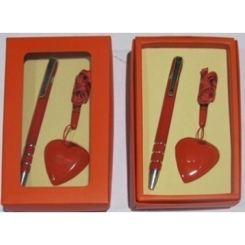 """Набор """"Сердце красное"""" ручка + флешка 4Гб"""