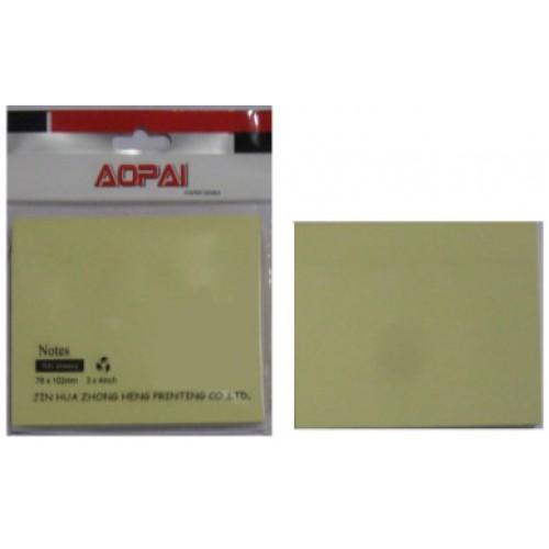 Блок-стикер для заметок 76*51мм 100л, желтый