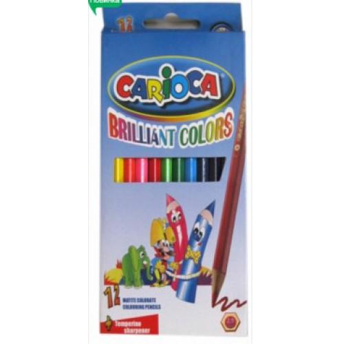 """Набор цв. карандашей 12цв Carioca""""Brilliant colors"""" 2,9мм"""