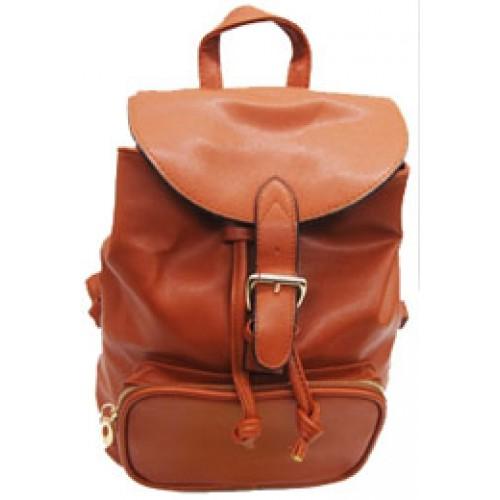 """Рюкзак """"Цветной с карманом,пряжка,черн.кант"""" 25*27*10см, кожзам"""
