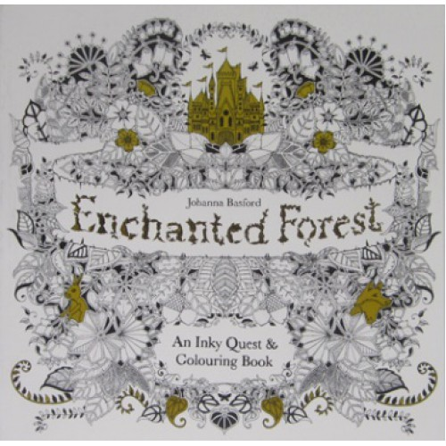 """Книжка-раскраска 25*25см """"Зачарованный лес""""(антистресс) 48л, 96 карт,120г/м3"""