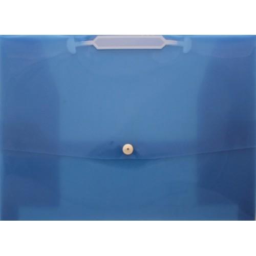 Папка-портфель на кнопке А4 проз., синяя