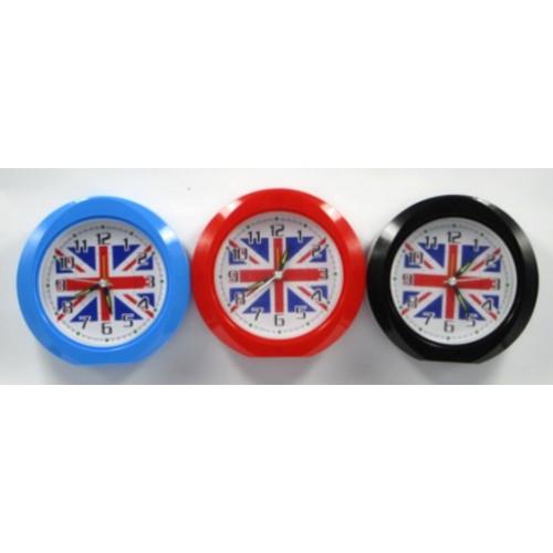 "Часы-будильник ""Флаг Англии"" ⌀12,5см"