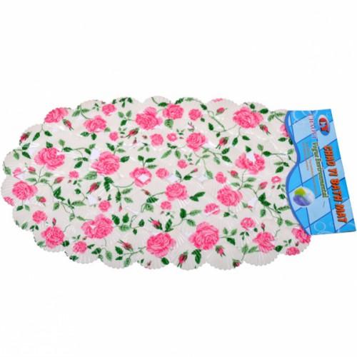 Коврик резиновый для ванны «Ракушки» 68*39см