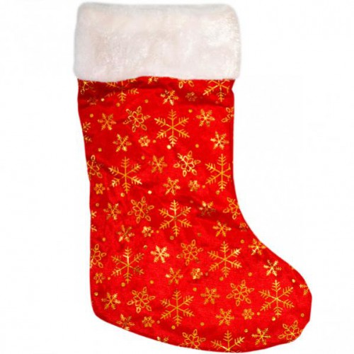 """Сапог-носок для подарков """"Звездочка блестящий"""" 38*14см, флис"""