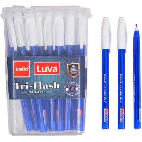 Ручка масляная «Tri-Flesh» 1мм, синяя Cello