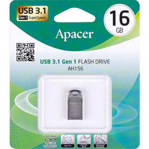 Флешка Apacer USB 16Gb AH156 Ashy USB 3.0