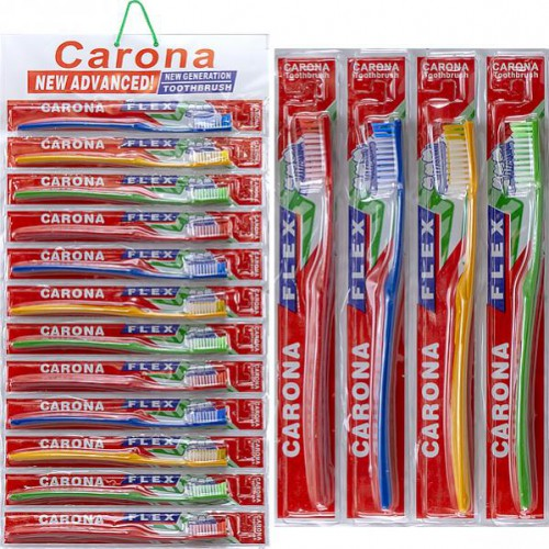 """Зубные щетки """"Carona"""" 18,5см на блистере"""